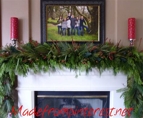 christmas wonderful mantel garland design dazzle