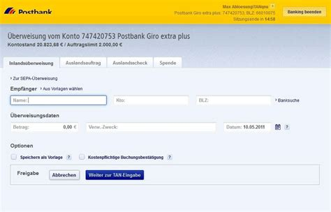 postbank bank banking postbank anwenden