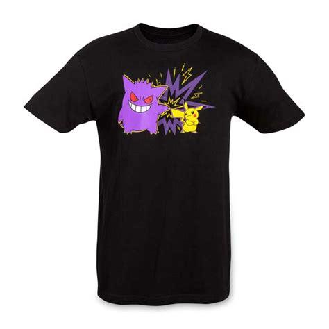 Gengar T Shirt team pikachu and gengar black t shirt s fitted