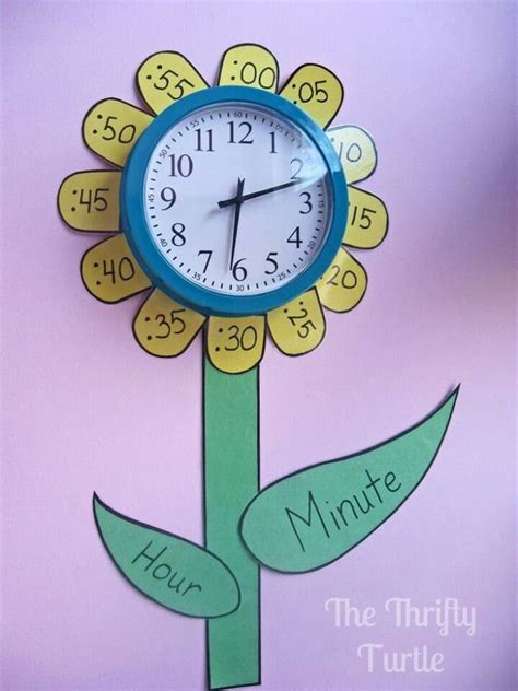 clock flower template 17 best images about clock work on to tell