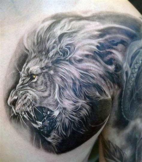 lion chest tattoos 85 tattoos for a jungle of big cat designs