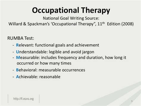 occupational therapy goal setting template documentation writing goals rhumba format ot board