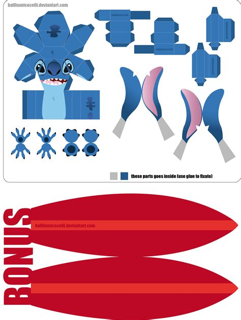 New Papercraft - stitch papercraft new version by balluxnicocelli on deviantart