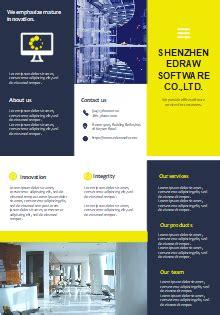 furniture sales brochure templates