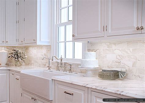 Wonderful White Marble And Glass Backsplash #1: Calacatta-gold-subway-backsplash-tile-cabinet.jpg