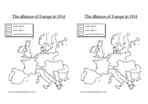 printable map europe 1914 blank map of europe during ww1 images
