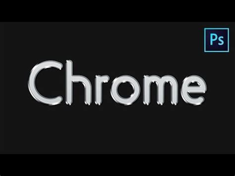 photoshop words chrome tutorial learn how to create a chrome style text effect in adobe