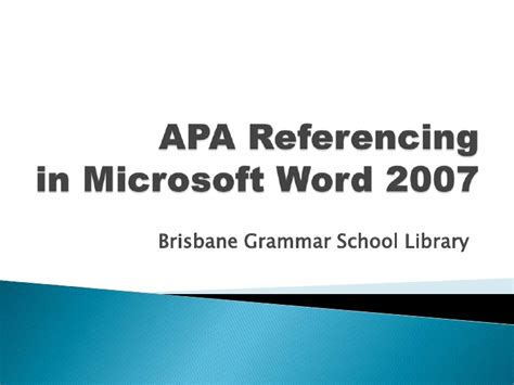 apa format youtube word 2007 apa referencing in microsoft word 2007