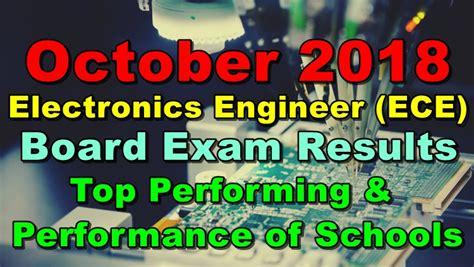ece board exam results october  top performing performance  schools