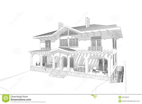 drawing of houses pencil sketch house stock illustration image of concept