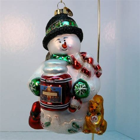 yankee candle christmas ornament christopher snowbrite