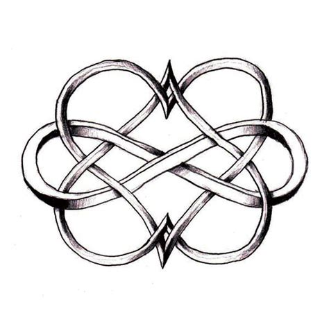 infinity heartbeat tattoo meaning double heart infinity infinity symbols and infinity