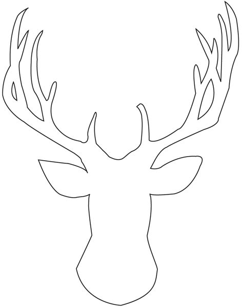 Deer Template by Endlessly Erin Diy Deer Painting Instead Of Deer