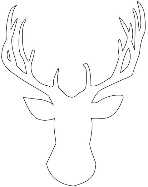 coloring pages of deer antlers 8 best images of free printable deer silhouette antlers