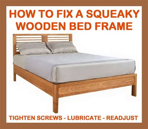 bed squeaking replacement wood bed rails custom bed frame diy05 side