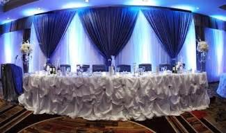 blue wedding decoration sang maestro
