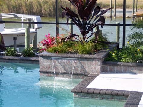Pool Planters by Sheer Descent Geometric Pool And Planters Elite Weiler Pools