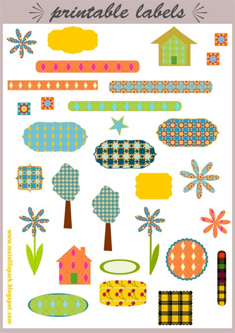 Stiker Digital free printable labels and scrapbooking embellishment