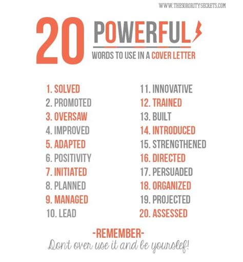 good words for cover letters 20 powerful words to use in a cover letter let s find me