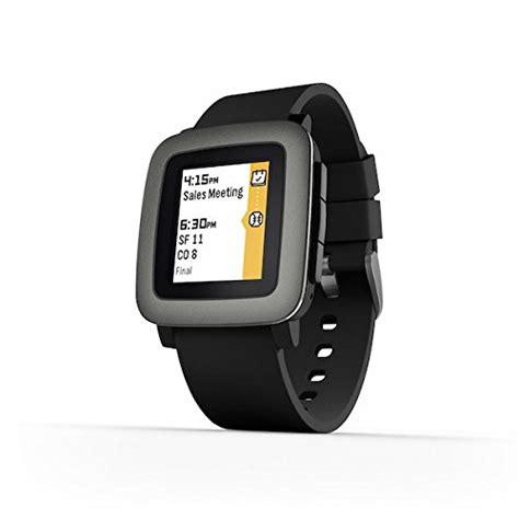 Smartwatch Pebble Time pebble time smartwatch in black smartwatches org