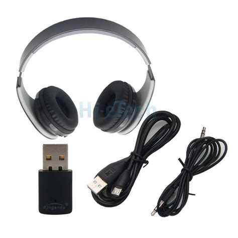 Headset Via Bluetooth bluetooth wireless stereo headset with receiver usb for sony ps4 pc us ebay