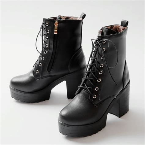fall boots 2015 fall boots high heels thick heel boots lace up