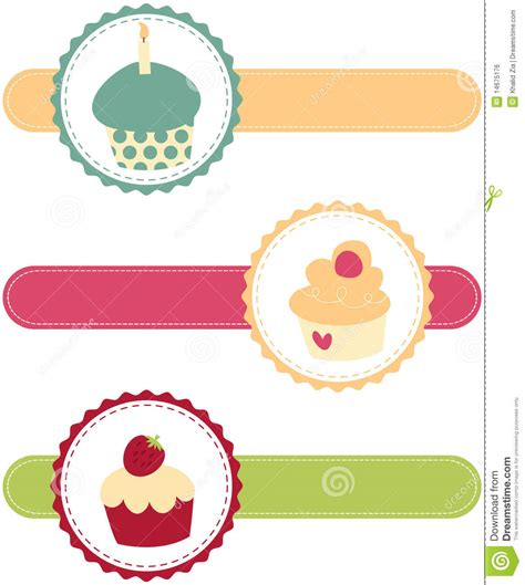 cupcake banners royalty free stock image image 14675176