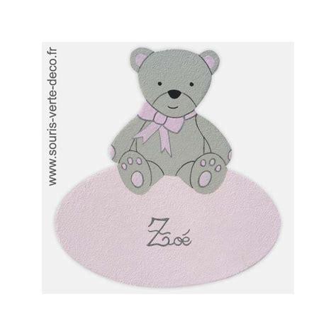 plaque de porte chambre enfant plaque de porte ourson avec pr 233 nom d 233 coration pour