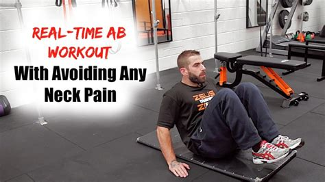 real time ab workout that won t hurt your neck