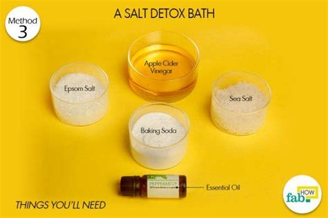 Detox Bath Baking Soda And Apple Cider by Top 3 Ways To Detox Your Naturally Fab How