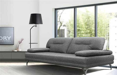 canapé design gris canap 195 169 contemporain design