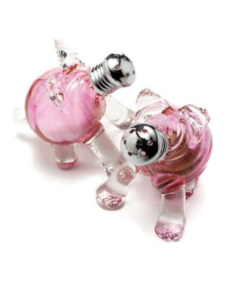 Glass Pig Salt And Pepper Shakers It Or It by Pig Salt And Pepper Shakers Let You Go Whole Hog At Dinner