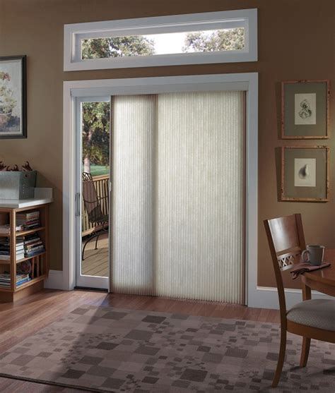 choosing window treatments for sliding glass doors home