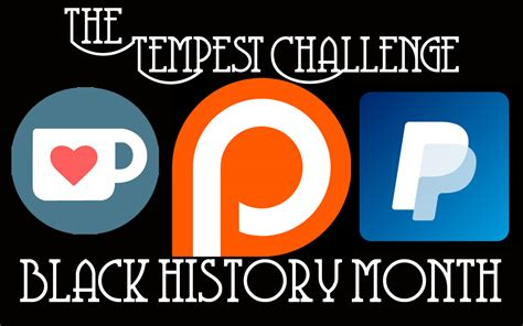 black history month challenge support black authors artists creatives tempest