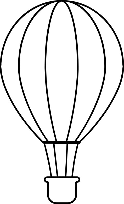 air balloon coloring page side air balloon coloring page wecoloringpage
