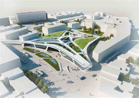 green walking mall competition entry unika archdaily