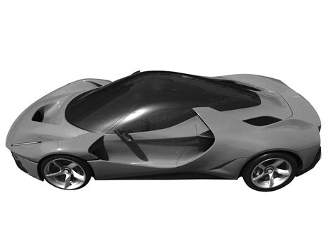 New Ferrari Supercar by Mystery Ferrari Supercar Pops Up On Patent Filing By Car