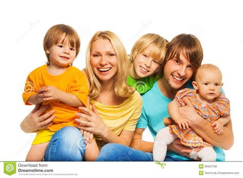 with children three with parents stock photo image 39407758