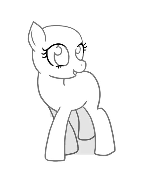 mlp fim template drawing references pinterest