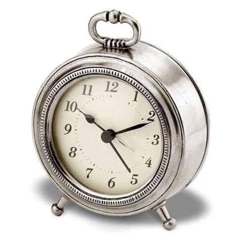 toscana alarm clock 11 cm diameter handcrafted in italy pewter