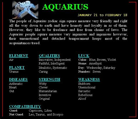 what is compatible with aquarius horoscope