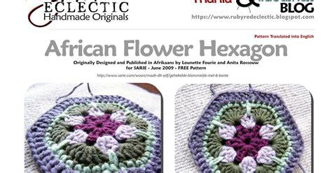 crochet pattern african flower hexagon rubyred eclectic free pattern african flower hexagon