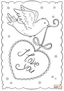 Quot I Love You Quot Card Coloring Page Free Printable Coloring I You And Coloring Pages