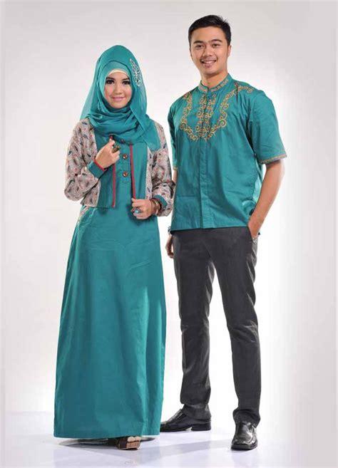 Baju Muslim Pasangan desain baju muslim terbaru untuk pasangan serasi