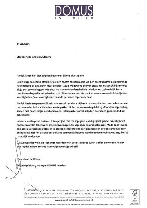 Letter Of Recommendation Designer reference letter anniek mutsaers