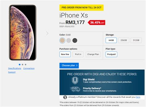 updated comparison apple iphone xs xs max and xr promo plans by u mobile digi maxis and
