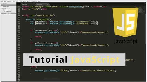 tutorial javascript html tutorial javascript onclick onkeyup html youtube