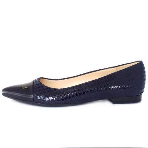 navy patent flat shoes kaiser uk cara navy patent tooth hound print flat