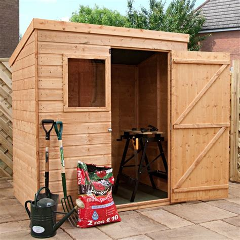 6 X 4 Shed 6 X 4 Waltons Tongue And Groove Pent Wooden Shed