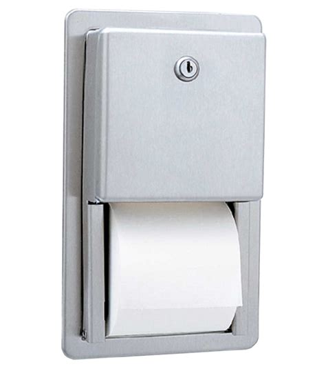 toilet paper dispenser bobrick b 3888 bobrick recessed multi roll toilet tissue